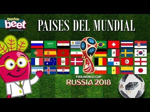 MUNDIAL 2018 DE FUTBOL ⚽ RUSIA Grupos Y Banderas Para Niños