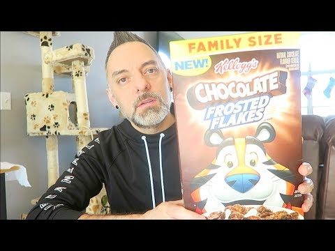Chocolate Frosted Flakes Cereal Review!