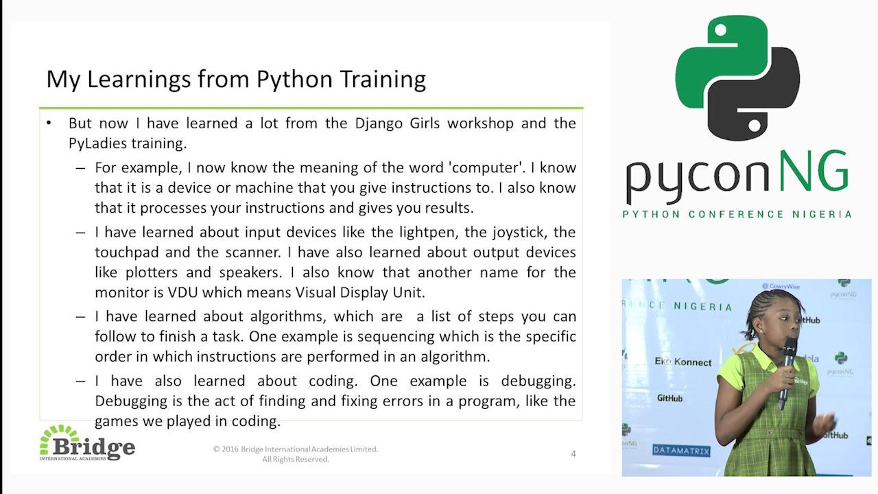 Image from Sophia Irozuru (Bridge Academy)- My Python training Experience