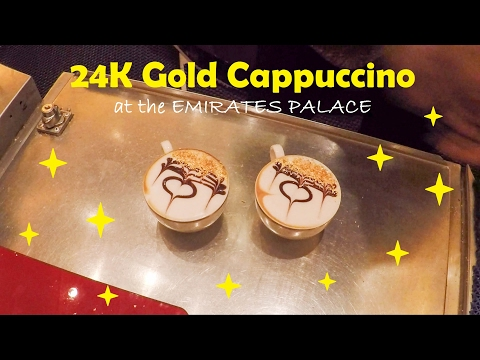Abu Dhabi | 24K Gold Cappuccino at the Emirates Palace