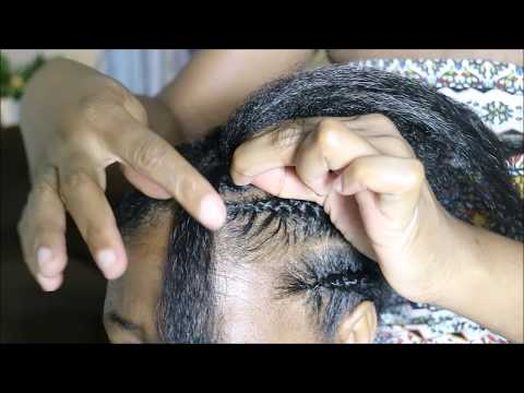 How to cornrow with extensions| In depth tutorial