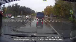 10.10.17 Иваново. Две девушки попали под раздачу на переходе.