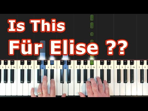 "Is This ""Für Elise""? - Piano Tutorial Easy - Beethoven - Sheet Music (Synthesia) thumbnail"