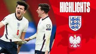 England 2 1 Poland Maguire Volleys In Late Winner World Cup 2022 Qualifiers Highlights