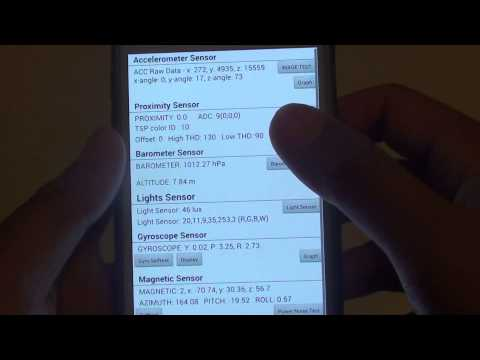 Samsung Galaxy S5: How to Calibrate Gyroscope Sensor With Selftest