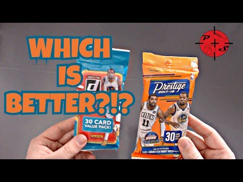 WHICH IS BETTER? 2017-18 Donruss or Prestige Hanger packs Basketball Cards APRIL GIVEAWAY!