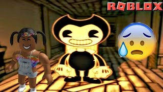 SCARED FOR MY LIFE IN BENDY AND THE INK MACHINE On Roblox