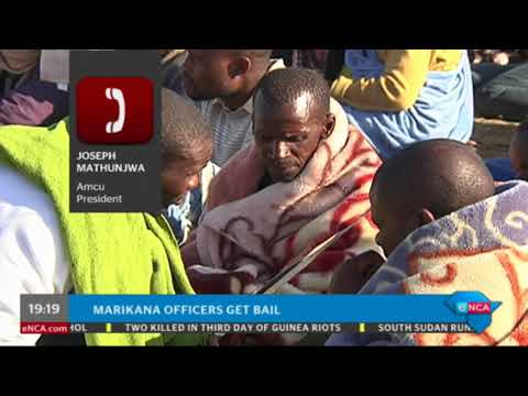 Amcu president speaks on Marikana police officers who received bail