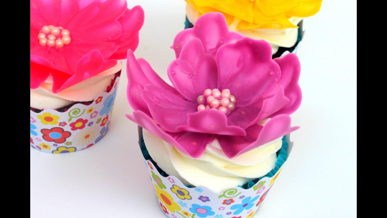 Easy Chocolate Flower Cupcake Decorating Youtube