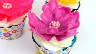Easy Chocolate Flower   Cupcake Decorating