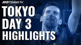 Djokovic, Goffin & Pouille Reach Last Eight; Uchiyama Shocks Albot | Tokyo 2019 Highlights Day 3