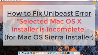 How to fix Unibeast Error