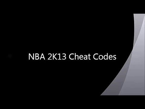 <b>NBA 2K13</b> New <b>Cheat Codes</b> - YouTube