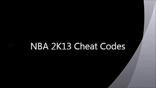 NBA 2K13 New Cheat Codes