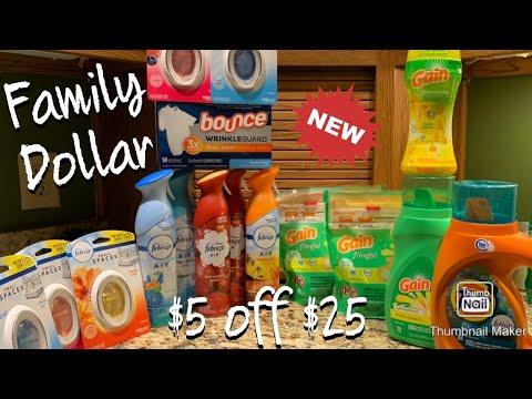 Family Dollar Couponing || 1/26 - 2/1 || $5 Off $25 Scenarios || ALL Digital