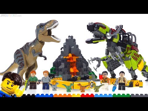LEGO Jurassic World T Rex vs Dino Mech review 75938