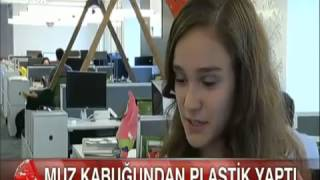 Liseli Elif Bilgin muz kabuğundan plastik üretti. Google Bilim Fuarı'nda finale kaldı.