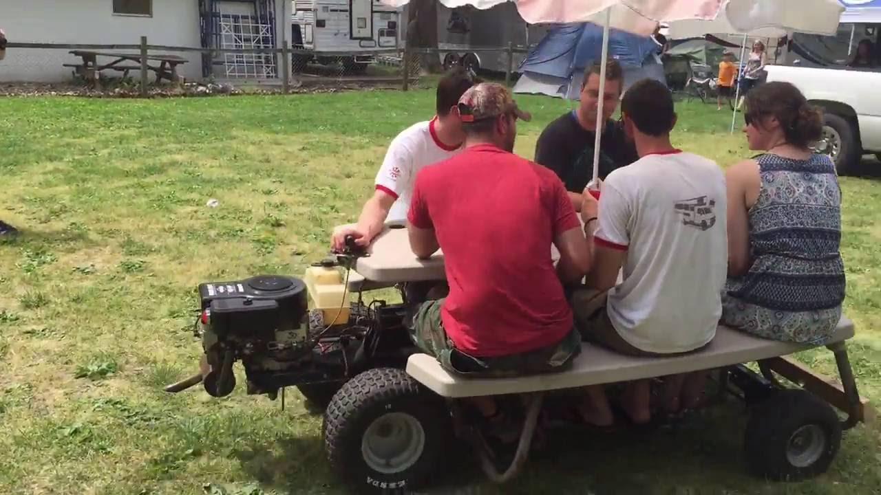 Motorized Picnic Table YouTube - Motorized picnic table