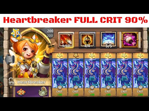 FULL CRIT RATE HEART BREAKER GAMEPLAY - CASTLE CLASH