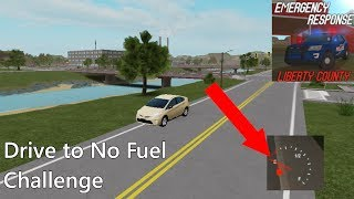 Drive to EMPTY FUEL CHALLENGE - Libery County | ROBLOX