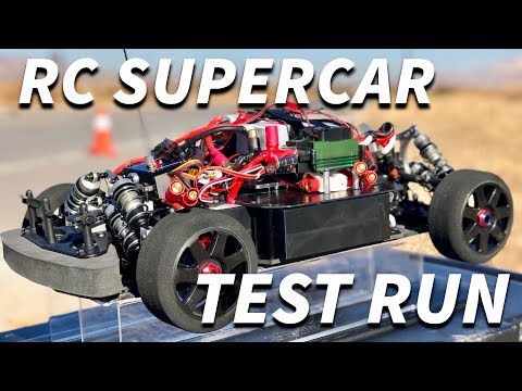 24 Horsepower RC SUPERCAR TEST RUN
