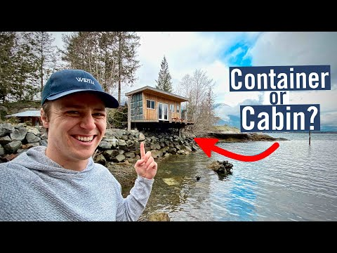 Shipping Container Converted Into COZY CANADIAN CABIN