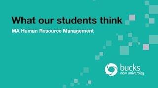 Ma Human Resource Management Bucks New University