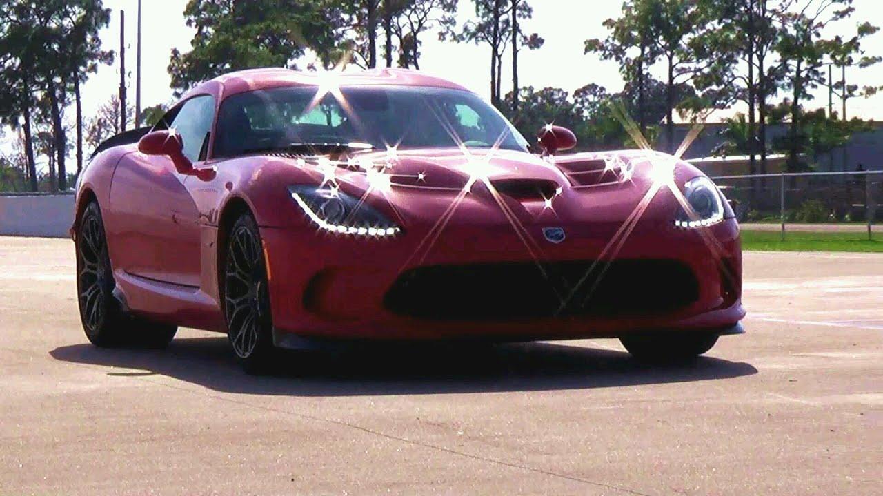Dodge Viper Srt Engine Sound Race American Supercar Beast