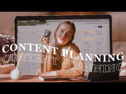 How I plan my CONTENT CALENDAR (+ free template!)