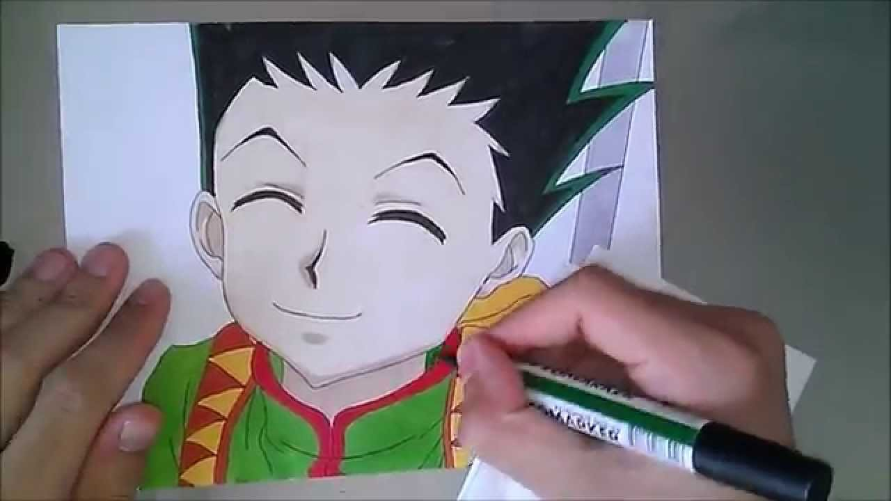 How to draw Gon from HUNTER X HUNTER - YouTube