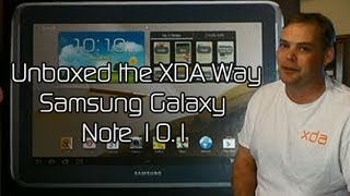 Samsung Galaxy Note 10.1 Unboxed the XDA Way