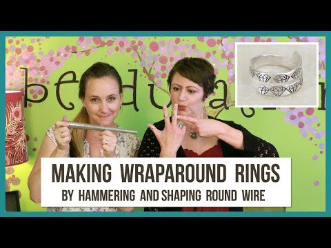 Making Wraparound Metal Stamped Rings - From Beaducation Live Episode 28
