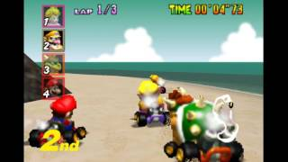 Mario Kart 64 - mario kart 64 mushroom cup 50 cc playthrough - User video