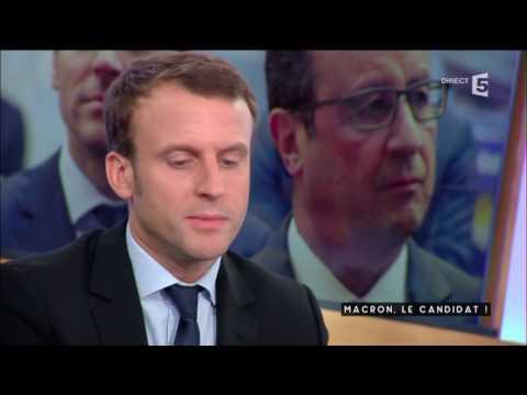 Macron, le candidat - C à vous - 24/11/2016