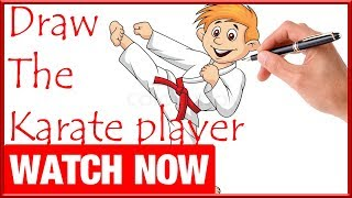 How To Draw The Karate player - Learn To Draw - Art Space