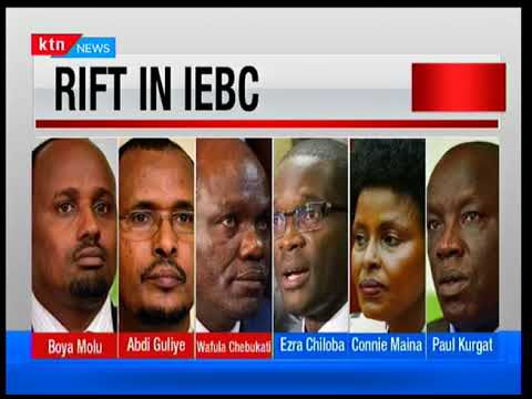 IEBC Vice Chair Consolata Nkatha and Commissioners Paul Kurgat and Margaret Mwachanya exit office