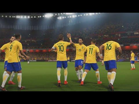 Brasil vs França - Gameplay pedido por inscritos - Emirates Stadium - PES 18