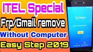 itel A22 Frp/Gmail remove without computer