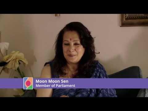 Moon Moon Sen wears a pink bindi for  Fight4theFoetus