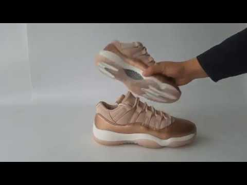 pretty nice 3caa4 82fd3 Wmns Air Jordan 11 Low  Rose Gold  Women Sneaker Unboxing Review