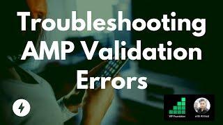 How to Fix Amp Error in Wordpress