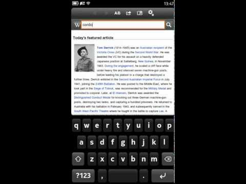 WikipediaMobile running on Nokia  N9