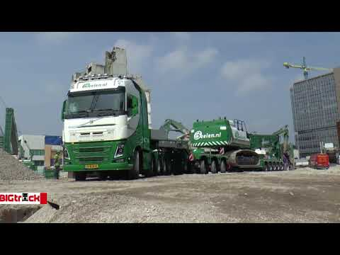 Volvo FH16 750 10x4 Beelen Transport: Heavy transport with a Volvo FH16 750 and a Nooteboom 3 bed 5 Pendel X Euro-low loader.