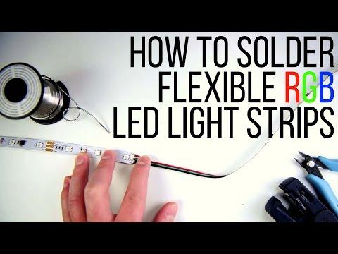 How to Solder Flexible RGB LED Light Strips