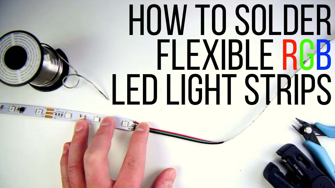How to Solder Flexible RGB LED Light Strips - YouTube