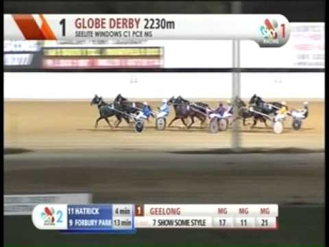 Trotting Race Fall From Globe Derby Park