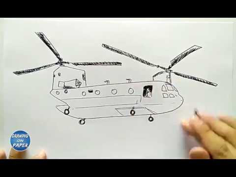 Very Easy!! How to Draw Helicopter a Cartoon for kids ...