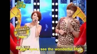 20110713 娱乐百分百 show luo rainie yang in your eyes eng sub