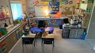 Our Homeschool Room Tour for 2019-2020: Kindergarten and Second Grade ~ The Kneady Homesteader