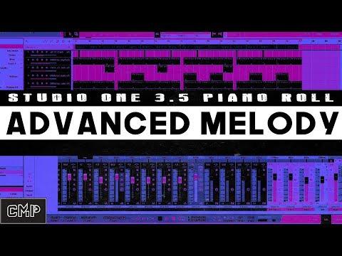 Studio One Advanced Melody and Piano Roll Tutorial  studio one 3.5